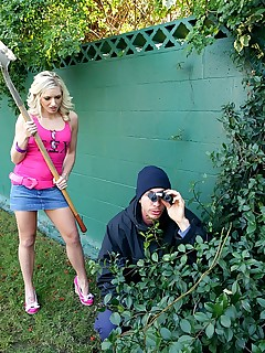 King Dong. Sorority girl kylee reese gets fucked by a peeping tom hiding in the bushes
