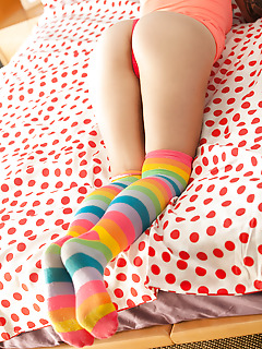 Hailey Leigh. Striped Socks..