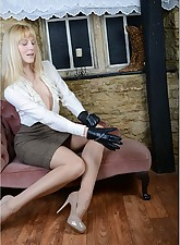 Hot.., Ladies In Leather Gloves
