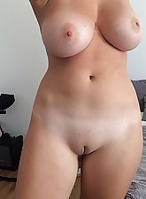 Latina woman naked at home