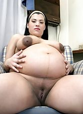 Wild hardcore pregnant big tits smoking