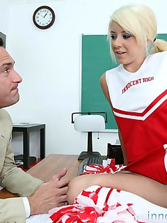 Innocent High cheerleader teen