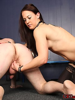 CBT and Ball Busting. Mistress Cheyenne makes her debut by showing off her wrestling moves and adds ballbusting to the mix.