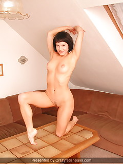 Teen Alex flexible with dildo