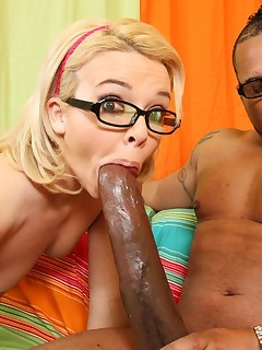 Freaks Of Cock. Sexy slut from library gets violated by 14 inches of black anger cock