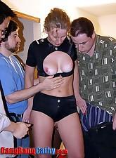 5 horny.., Gang Bang Cathy