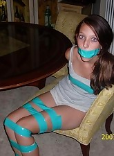 Taped up.., My Bound Wife